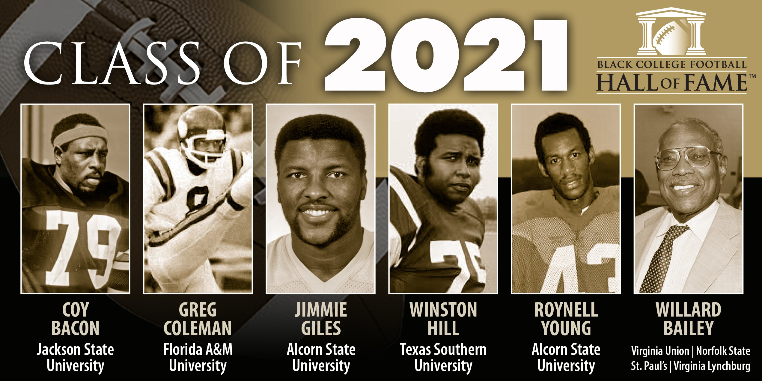 BLACK COLLEGE FOOTBALL HALL OF FAME CLASS OF 2021 ANNOUNCED